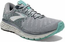 Brooks Women's Glycerin 17 Running Shoe, Grey/Aqua, 10.5 D(W) US