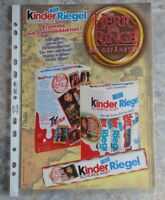 Werbeblatt: HERR DER RINGE, DIE GEFÄHRTEN, Ferrero Kinder Riegel, Hochglanz