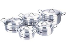 CASSEROLE COOKING DISH PAN STOCKPOT STEW 5-SAUCEPAN/POT+5 LID 2.3 Ltr to 8.4Ltr