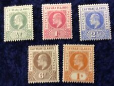 Cayman Islands Edward VII 1/2d to 1/- Definitives SG 3/7 Cat. Value £100 In 2016