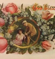 Postcard, 1918 God Bless And Keep You, Tulips England Vintage P22