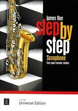 J.Rae: Step by Step for Saxophone. Easy pupil-teacher studies.