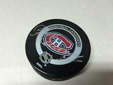 YVAN COURNOYER HOCKEY PUCK AUTO SIGNATURE MONTREAL CANADIENS NHL IN GLAS CO.