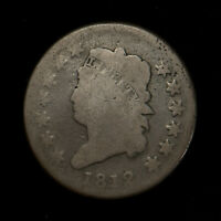 1812 CLASSIC HEAD 1C LARGE CENT ** EARLY AMERICAN COPPER Lot#X261