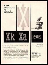 1965 Ercona Corp New York Carl Zeiss Jena Xk Xa Lab Microscopes Vintage Print Ad