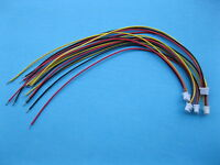 8inch 15 pcs 3.96mm VH3.96 2 pin Female Wire with Male pin Connector Leads 22AWG 2 color Red and Black 200mm Leads
