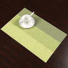 Isolierung Tischsets Streifen PVC Platzdeckchen Platzset abwaschbar Kunststoff