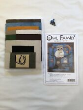 New listing New Quilting Kit : Owl Family Small Wall Quilt By Rachel's of Greenfield 13x15�