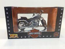 1997 Maisto Harley Davidson 1:18 NIB Die Cast FXSTS Springer Blue