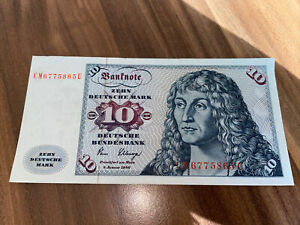 10 DM Deutsche Mark Schein Banknote von 1980 - Serie CM