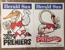 2005 And 2012 Sydney Swans WEG Premiership Posters 100% Original