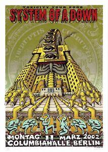 MINT/SIGNED/DOODLED System Of A Down 2002 EMEK Berlin Silkscreen Poster