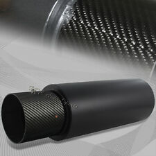 "4"" N1 Carbon Tip Black Stainless Weld-On Exhaust Muffler 2.5"" Inlet Universal 4"