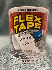 Flex Tape White Strong Rubberized Waterproof 4 Inch X 5 Foot