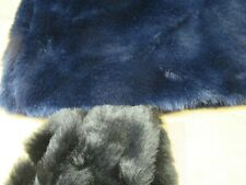 Navy faux fur fabric with soft, realistic handle by half-metre