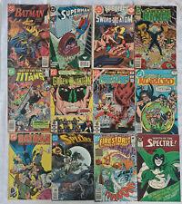 12 Bronze & Copper Age Dc Comics - Batman Superman Green Lantern + Lots More