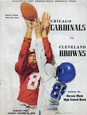 8X10 PHOTO OF1958 CHICAGO CARDINALS vs CLEVELAND BROWNS FOOTBALL GAME PROGRAM