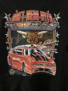 NHRA Drag Racing T-Shirt L Black Erica Enders 2x Champ Don't Mess With Texas