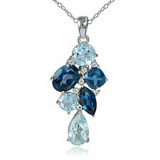 Topaz Irradiation Sterling Silver Fine Necklaces & Pendants