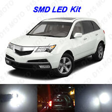 17 x White LED Interior Bulbs + Reverse + Tag Lights for 2001-2013 Acura MDX