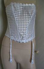 TO CLEAR LEJABY White Basque BNWOT Size 4 Medium - BARGAIN TO CLEAR