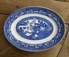 Homer Laughlin number d42 n6 Blue Willow small oval serving platter