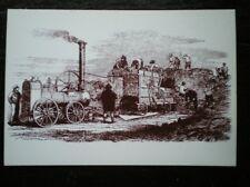 POSTCARD SOCIAL HISTORY VICTORIAN FARMING - HORNSBY PORTABLE STEAM ENGINE & THRE