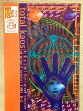 TOTAL KAOS STARLITE 2001 LEICESTER 2.10.93 RAVE FLYERS FLYER