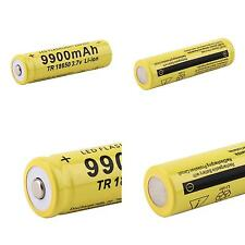 4pcs 3.7V 18650 9900mah Li-ion Rechargeable Battery For LED Flashlight Torch aa