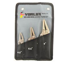 3pc Long Nose Locking Plier Set Mole Vice Grips Welding Clamps 3pc set