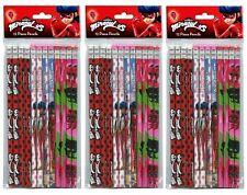 36pc Miraculous Ladybug Wood Pencil School Party Favors Supplies