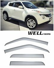 For 11-Up Nissan Juke WellVisors Clip On SLEEK HD Side Window Visors Smoke Tint