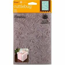 "Cricut Cuttlebug Anna Griffin AVIARY  5"" X 7"" Embossing Folder NEW"