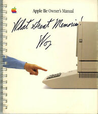 Steve Wozniak SIGNED AUTOGRAPHED Apple IIe Owner's Manual Computer +Insc Creator