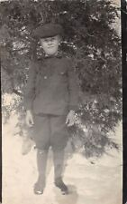 D41/ Ayr Nebraska Ne Real Photo RPPC Postcard c1910 Loren Wilder Boy Snow