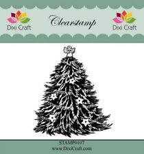 Dixi Christmas Clear Stamps - Angel Tree 5.8cm x 6.8cm