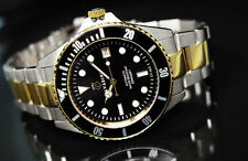 SOLID DIVER'S AUTOMATIC WATCH 30 BAR WD NEW SERIES XXL LARGE 45MM BI-COLOUR