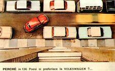 Ripr. Cartolina Tecnica Trasporti 1963 Volkswagen parcheggio facile