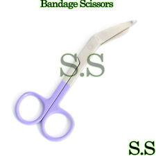 1 Lister Bandage Nurse Scissors - Color Handles(Purple)