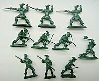 Barzco 54mm Robin Hood and his Merrymen Toy Soldier,  10 pieces, 5 poses.