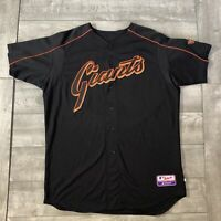 RARE Yamid Haad #8 San Francisco Giants MLB Majestic Black Game Used Jersey 48