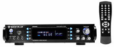 """Rockville Rpa60Bt 19"""" 1000w 2-Ch Usb Bluetooth Dj/Pro/Karaoke Amplifier Mixer"""