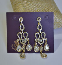Premier Designs Oh So Fancy Earrings Chandelier Gold Plated