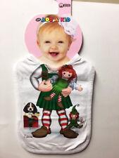 NEW Baby Add a Kid Toddler Boy's Oversize Elf Raggedy Ann BIB Made in USA
