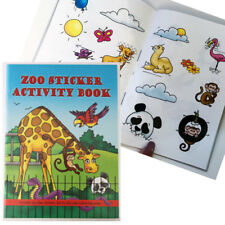ZOO STICKER MINI ACTIVITY BOOK A6 PARTY BAGS ANIMAL KIDS STICKER BOOK CHILDRENS
