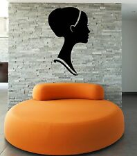 Wall Stickers Girl Woman Female Head Face Modern Decor z1279