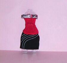 New Mattel Genuine Monster High Girl Red & Black Dress Goth Clothes Set