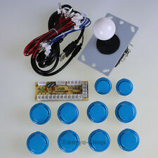 Arcade MAME JAMMA DIY Kit Zero Delay USB PC Encoder + 10x Push Button + Joystick