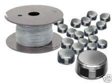 Spar-Set: 250 Bleiplomben 8 mm und 100 m Plombendraht Eisen verzinkt