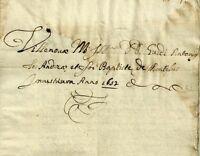 Villanova Monferrato - Documenti di Investitura Seicentesco 1652